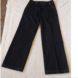 Wide leg Jones New York Signature Stretch Jeans 8